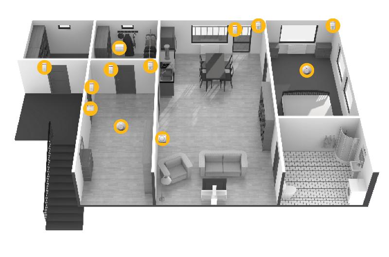 Jablotron 100 Anwendungsbeispiel für eine Wohnung | Foto: © Jablotron
