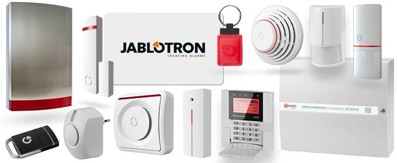 Das Sortiment der Jablotron 100
